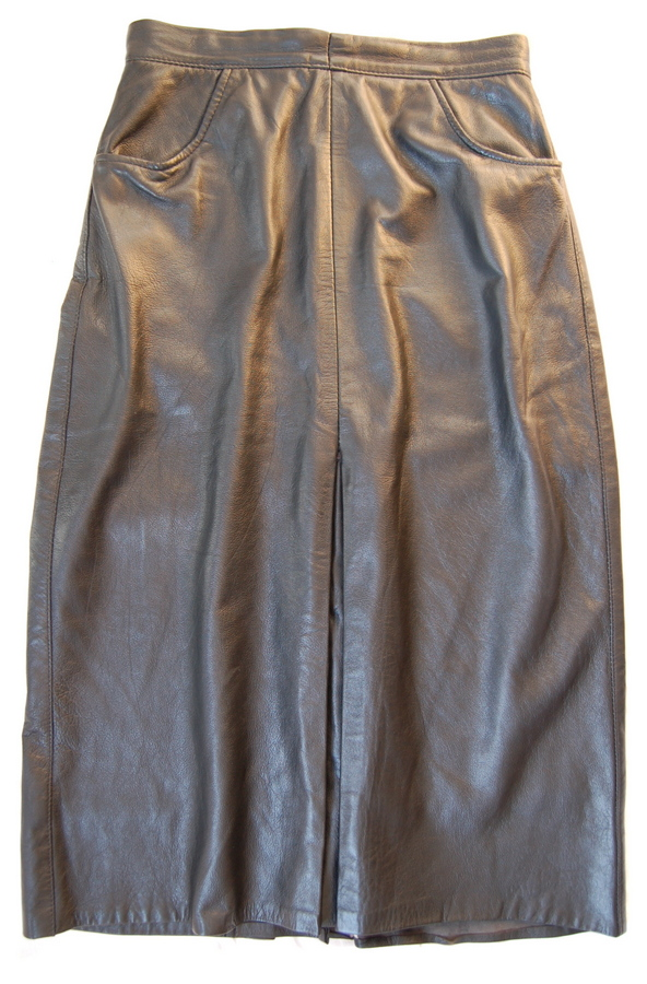Real leather St Michael skirt