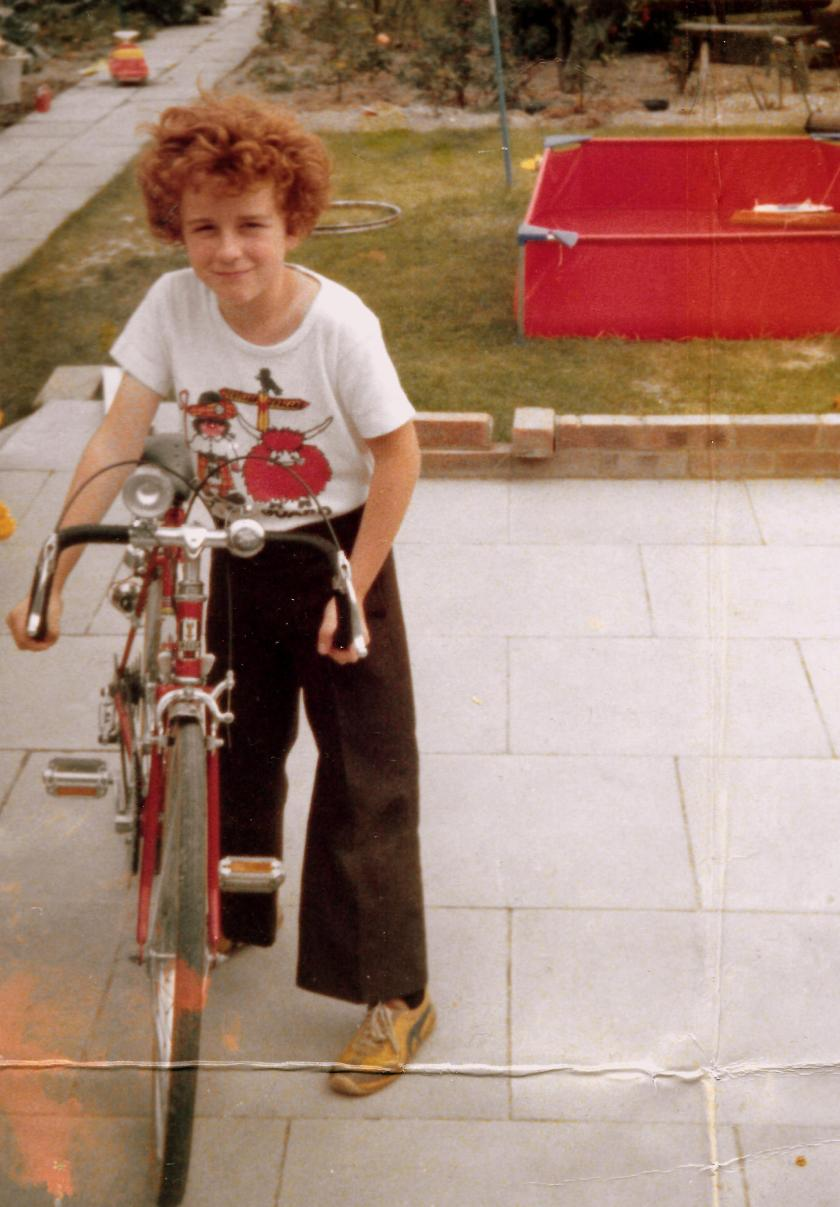 My husband, John at eight or nine years old.